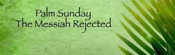 Palm Sunday – The Messiah Rejected